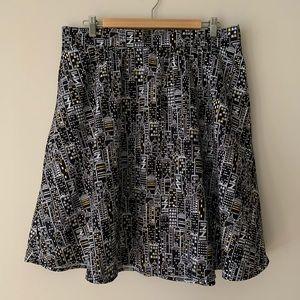 Retrolicious City lights swing skirt